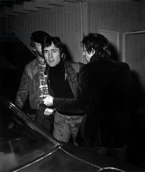 John Lennon after a fight in a night club in Los Angeles in 1974