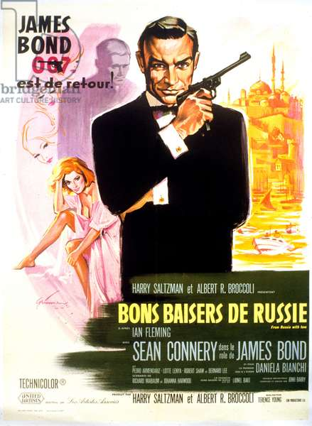 Bons baisers de Russie FROM RUSSIA WITH LOVE de TerenceYoung avec Sean Connery (James Bond 007, revolver Walther PPK) 1963