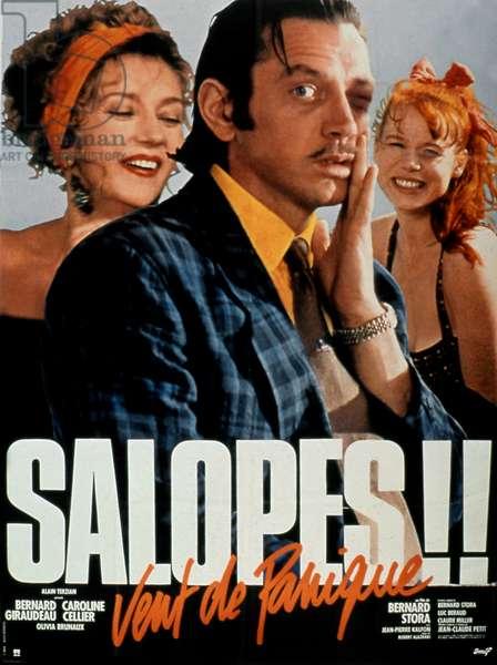"""Affiche du film """"Vent de panique"""" 1987 de BernardStora avec Caroline Cellier Bernard Giraudeau et Olivia Brunaux"""