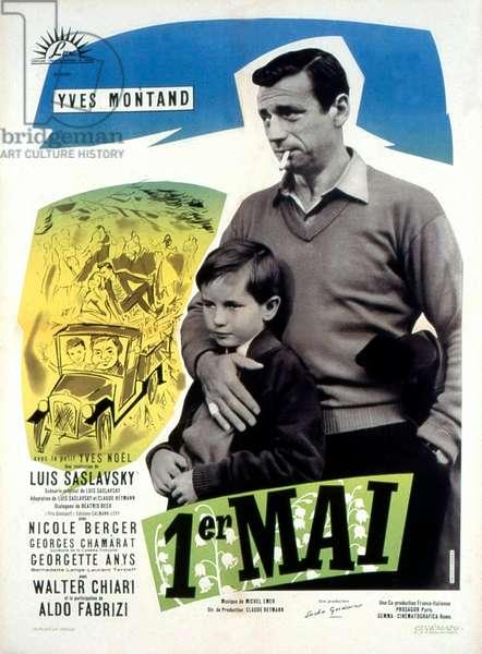 Affiche du film Le premier jour de mai de Luissaslavsky avec Yves Montand 1958