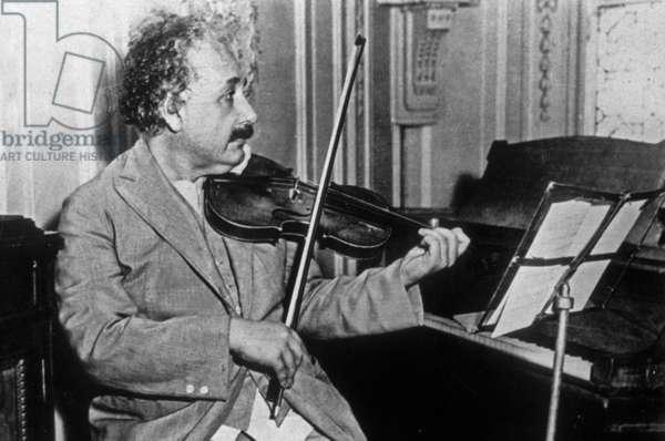 Albert Einstein (1879-1955) American physicist (German born) c. 1932