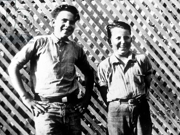 Richard Nixon at 13, with a friend in 1926