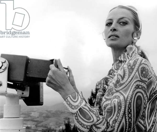 Actress Capucine at Monte Iguelo, San Sebastian (Spain) for international film festival, June 1969