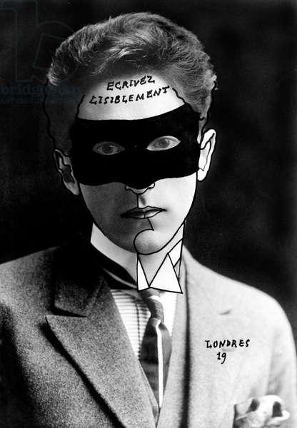 Self Portrait, 1919 (b/w photo with writing)