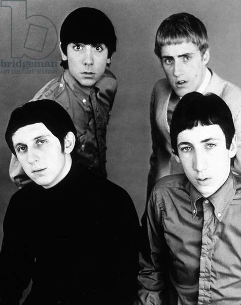 Top left Keith Moon Top Right Roger Daltry bottom left John Entwhistle bottom right Pete Townshend rock pop