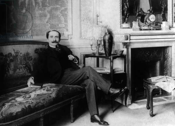 Edmond Rostand (1868-1918) French poet and playwright, here at home in 1897