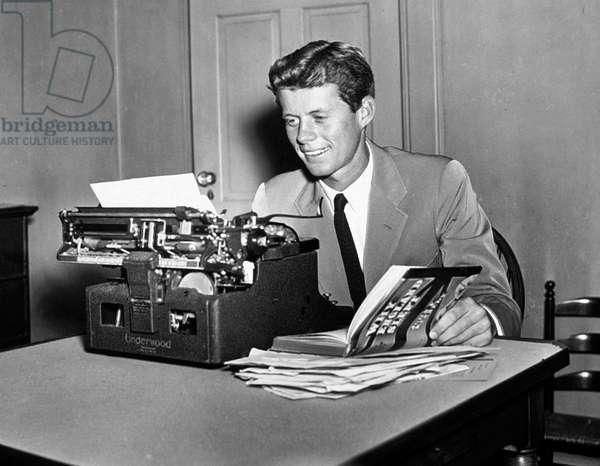 John F. Kennedy student in 1938