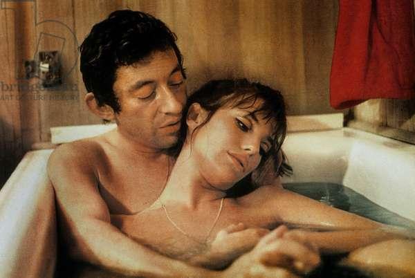 Slogan de PierreGrimblat avec Jane Birkin et Serge Gainsbourg 1968