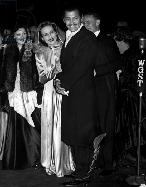Clark Gable et Carole Lombard at the premiere of Gone with the Wind in Atlanta December 17, 1939