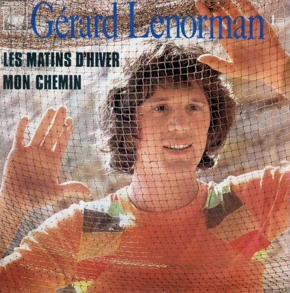 "Gerard Lenorman 1972 ""Les matins d hiver"" and ""Mon chemin"" 45 rpm vinyl record pouch"