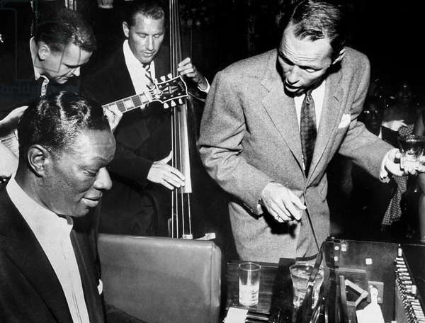 Nat King  Cole and Frank Sinatra on September 2, 1955