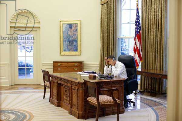 President Barack Obama in the Oval Office January 28, 2009 Official White House
