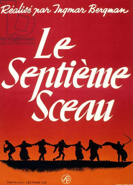 Film Poster for 'The Seventh Seal', directed by Ingmar Bergman, 1957 (colour litho)