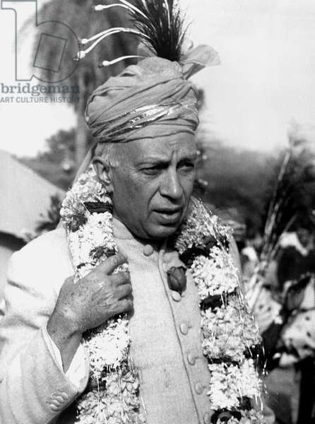 Jawaharlal Nehru (1889-1964) Indian Prime Minister Nehru during 25th anniversary of Indian republic January 26, 1962