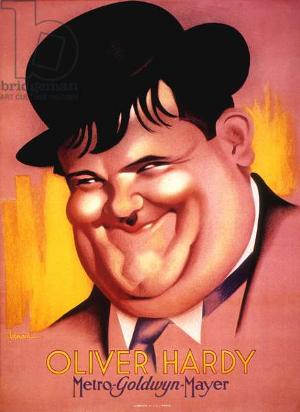 Oliver Hardy Poster for Metro Goldwyn Mayer