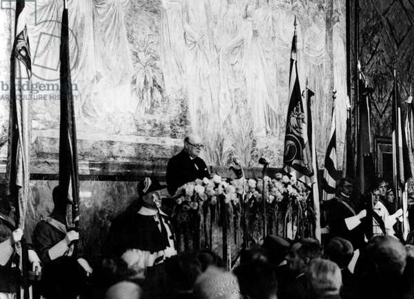 Speech of English Prime Minister Winston Churchill in Zurich on September 19, 1946 for making of Europe