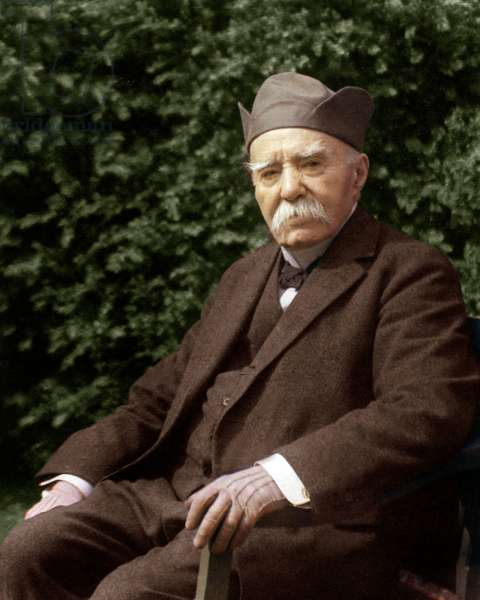 Georges Clemenceau (1841-1929) French state man and doctor, called the tiger, photographied by Henri Manuel during the 1920's