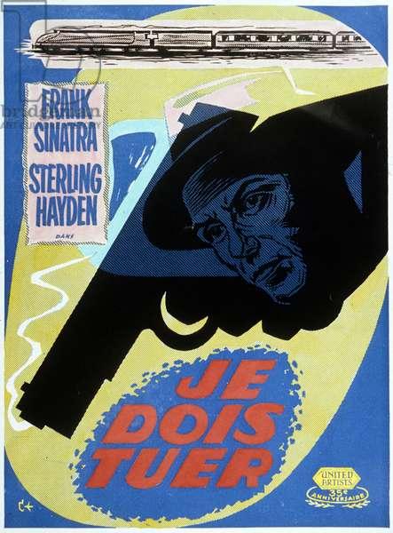 Affiche du film je dois tuer (Suddenly) de Lewis Allen avec Franck Sinatra 1954