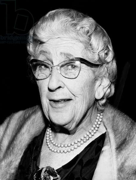 English novelist Agatha Christie (1891-1976) c. 1964