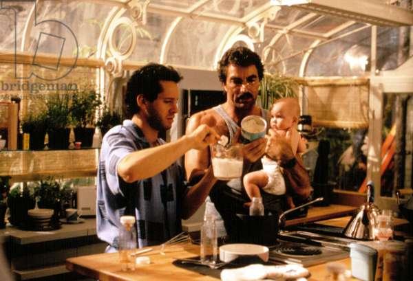 THREE MEN AND A BABY (Trois hommes et un bebe)  Steve Guttenberg, Tom Selleck, Lisa/Michelle Blair, 1987