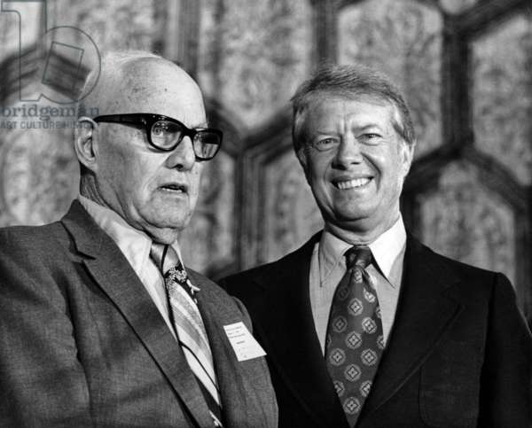 George Meany and Jimmy Carter, August 31, 1976