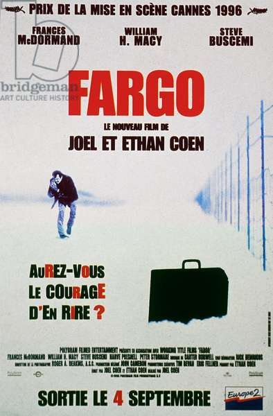 FARGO de JoelCoen et EthanCoen avec Frances McDormand et William H. Macy 1996