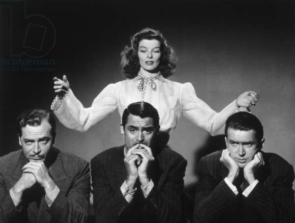 The Philadelphia Story directed by George Cukor, starring Katherine Hepburn, John Howard, Cary Grant and James Stewart, 1940
