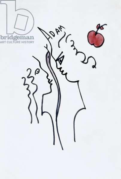 Adam and Eve (felt tip on paper)