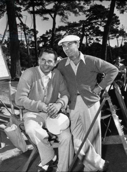 Actors Ben Hogan (r, 1912-1997) and Glenn Ford