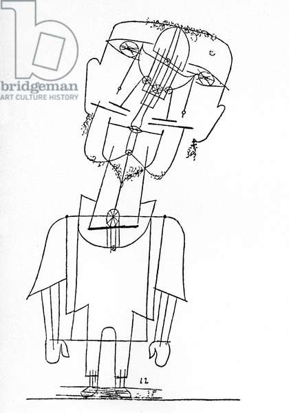 Self portrait by Paul Klee (1879-1940), 1922 (drawing)