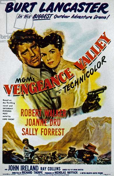 La Vallee de la vengeance VENGEANCE VALLEY, Burt Lancaster, Joanne Dru, Robert Walker, 1951 de RichardThorpe
