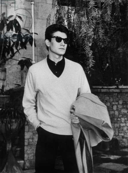 Yves Saint-Laurent in Palma de Majorque, the Balearics, January 17, 1961