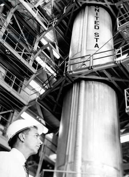 Jack Lovell quality expert at Martin Company's Baltimore Division, responsible of the Gemini-Titan launch boosters , June 1963 (Gemini project)