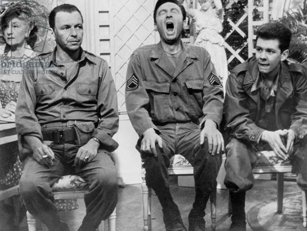 The Manchurian Candidate, directed by John Frankenheimer,  with Frank Sinatra, Laurence Harvey and Eddie Fisher, 1962 (b/w photo)