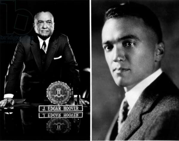 John Edgar Hoover (1895-1972) American administrator and director of the Federal Bureau of Investigation in 1925-1972, here in 1968 (l) and 1925 (r)