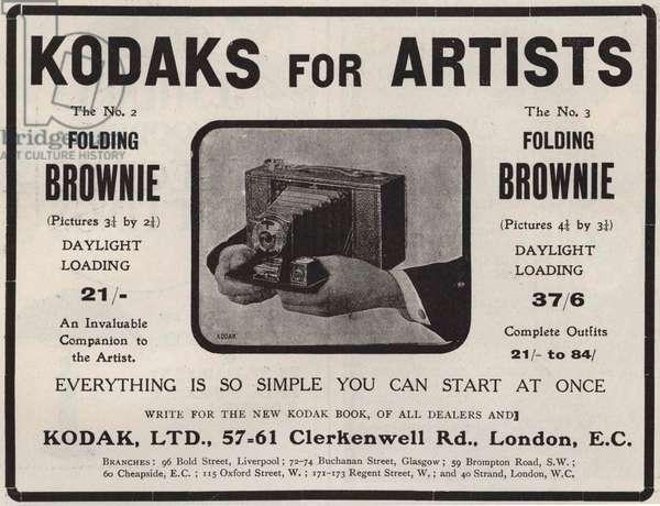 English advertisement for Kodak, 1907