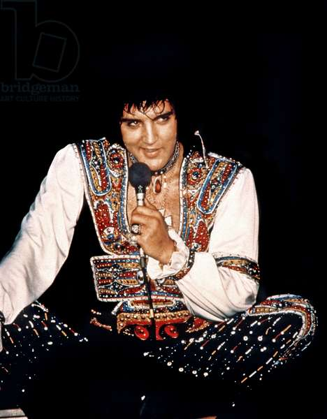 American singer Elvis Presley (1935 1977) here during his last tour in 1977