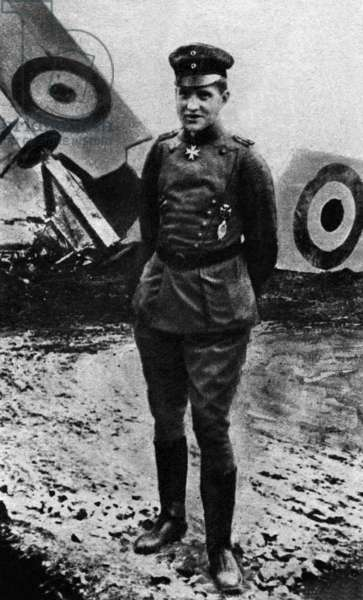 Manfred von Richthofen (1892-1918) German pilot during 1st world war
