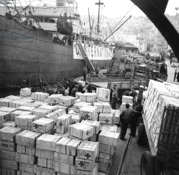 American assistance arriving in France by Red Cross, after 2nd world war