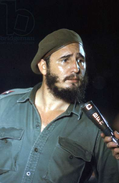 Fidel Castro, head of cuban state, in 1960