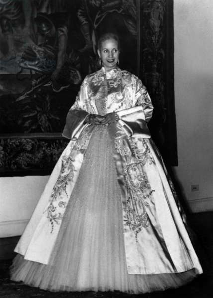 Evita Peron (1919-1952) wife of argentinian President JuanPeron , here May 30, 1951 during 135st anniversary of Argentina Independence
