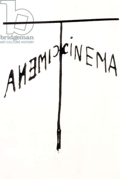 Poster for the film 'Anemic Cinema', 1926 (litho)