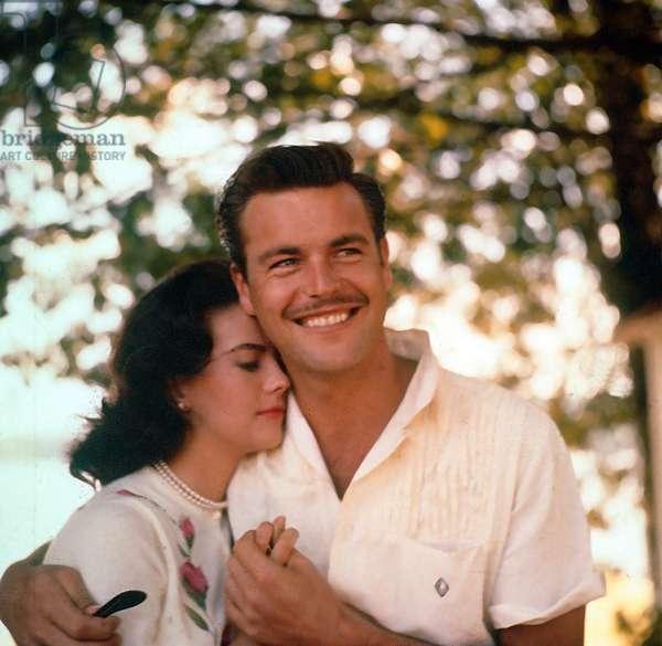 Actors Natalie Wood and her husband Robert Wagner c. 1960