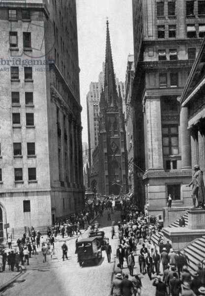 New York, Manhattan, c. 1930 : Wall Street