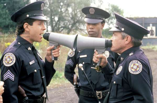 POLICE ACADEMY 4: CITIZENS ON PATROL, Steve Guttenberg, Michael Winslow, G.W. Bailey, 1987,