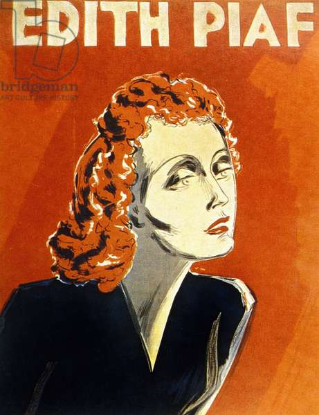 Edith Piaf, c.1930 (couleur litho)