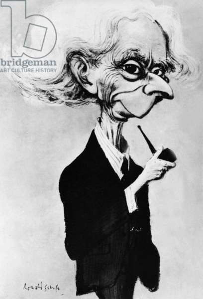 Bertrand Arthur William Russell (1872-1970) English mathematician and philosopher, caricature by Ronald Searle