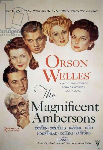 La splendeur des Ambersons The Magnificent Ambersons de OrsonWelles 1942 affiche de Norman Rockwell