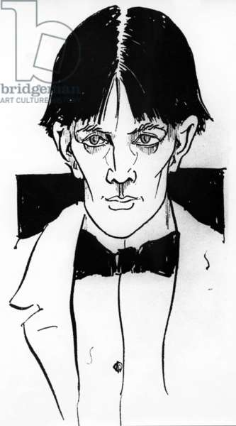 Self portrait by Aubrey Vincent Beardsley (1872-1898) English illustrator and writer