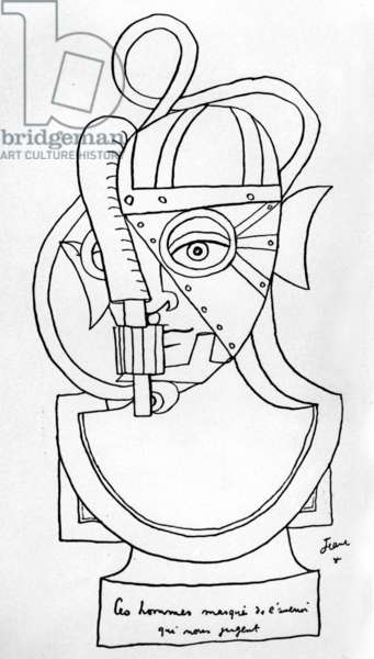 Drawing by Jean Cocteau for
